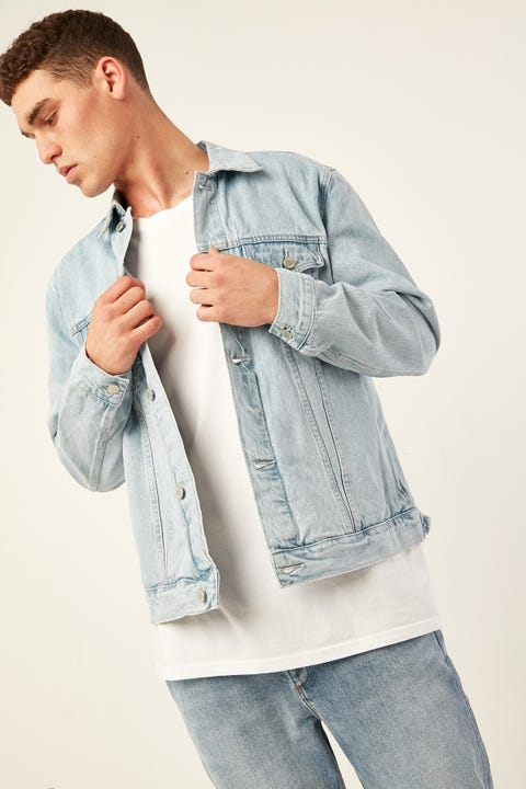 ASSEMBLY Homme Denim Jacket Pacific Blue