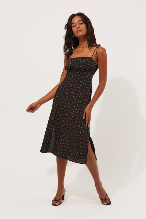 Perfect Stranger True Love Midi Dress Black Print