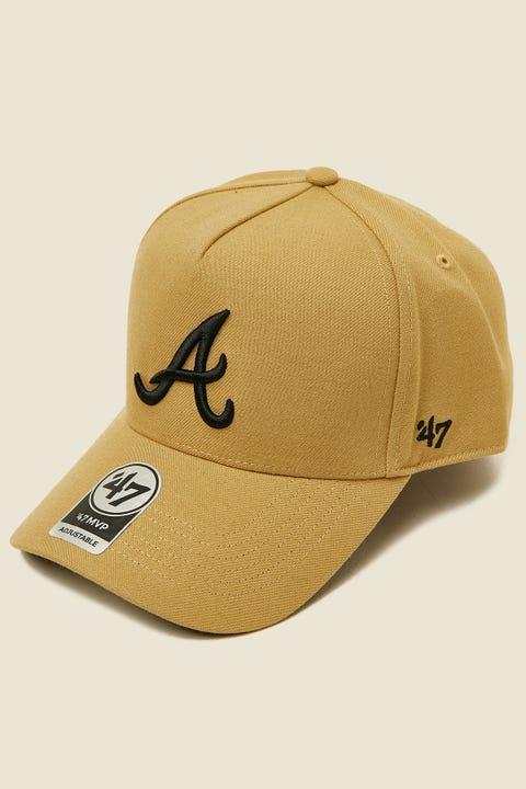 47 Brand MVP DT Snapback Atlanta Braves Tan/Black