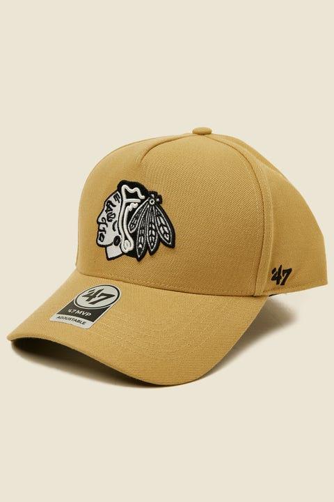 47 Brand MVP DT Snapback Chicago Blackhawks Tan/Black