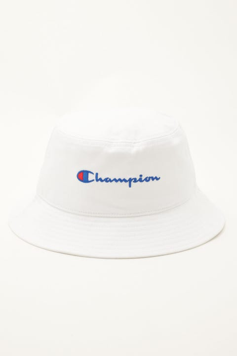 Champion Twill Script Bucket Hat White/Navy