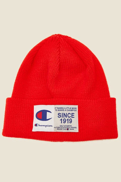 Champion Jocktag Beanie Red Flame