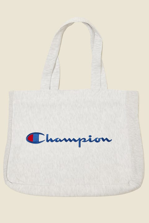 Champion Reverse Weave Tote Bag Silver Grey