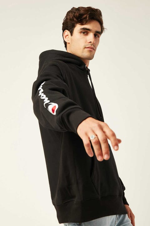 Champion Reverse Weave Hoodie Embroided Script Black