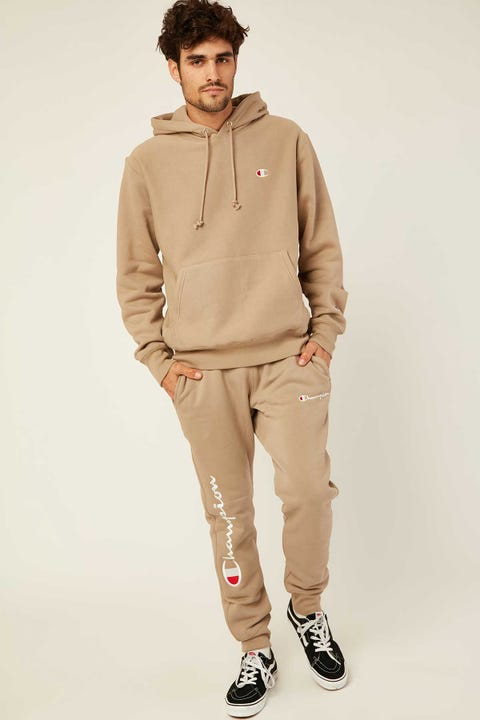 Champion Reverse Weave Jogger with Script American Khaki