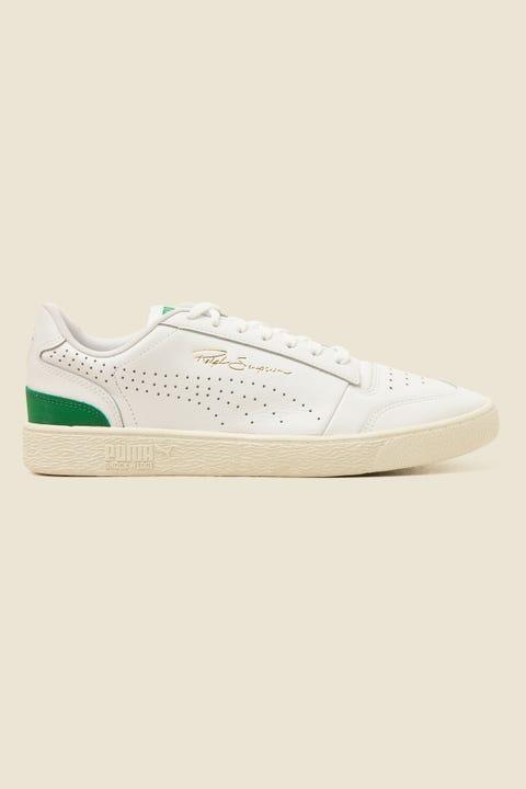 PUMA Mens Ralph Sampson Lo Perf White/Amazon Green/Whisper White