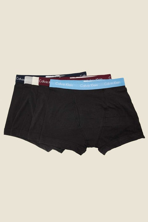 CALVIN KLEIN Cotton Stretch Low Rise Trunk 5 Pack Black/Multi