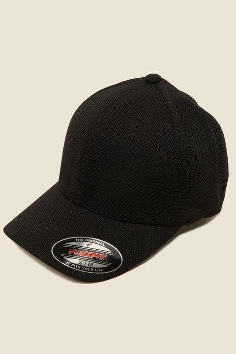FLEXFIT Cool & Dry Pique Mesh Cap Black