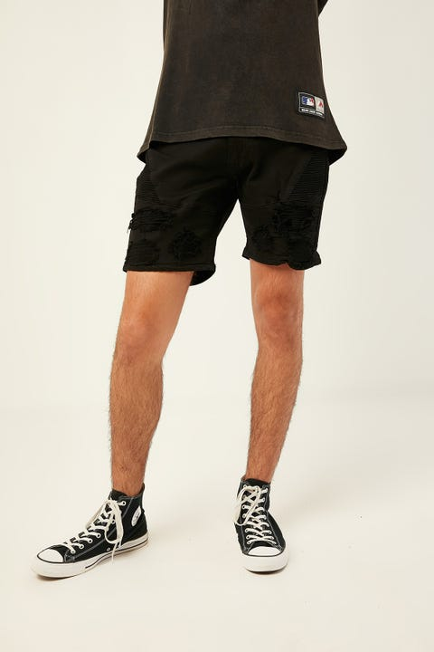 KISS CHACEY Code Denim Short Jet Black