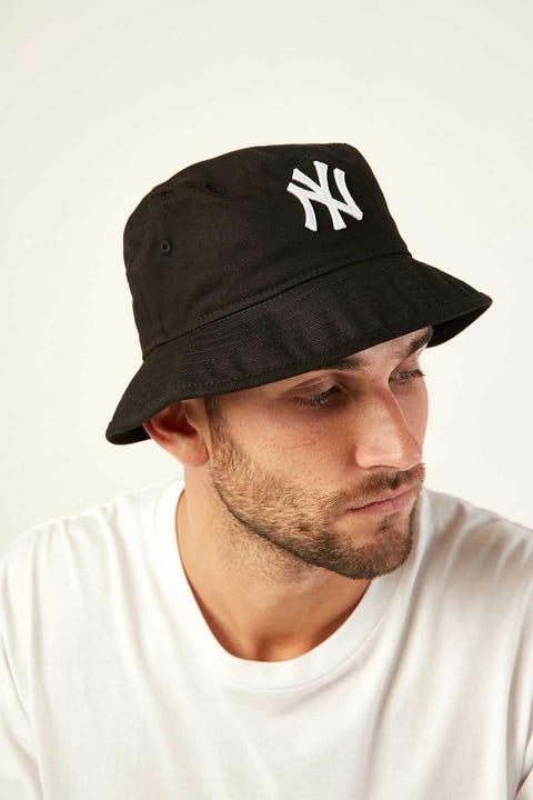 New Era Bucket NY Yankees Black/White