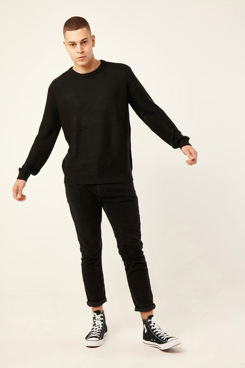 COMMON NEED Jet Knit Sweater Black