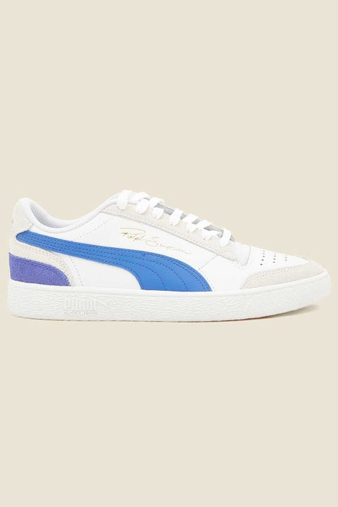 Puma Mens Ralph Sampson Lo Vintage White/Dazzling Blue/High Risk Red