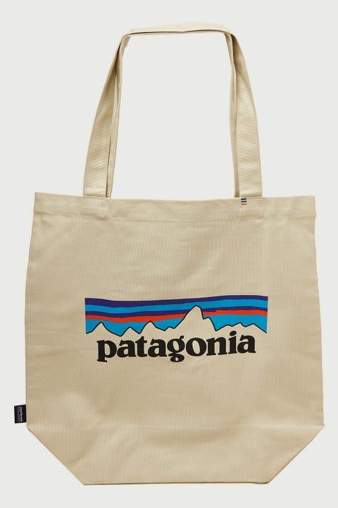 Patagonia Market Tote P-6 Logo Bleached Stone