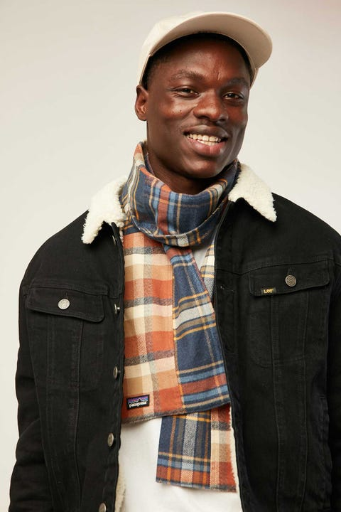 PATAGONIA Fjord Flannel Patchwork Scarf Defender/Neo Navy