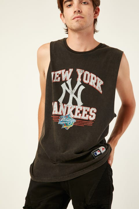 Majestic Athletic New York Yankees Muscle Washed Black