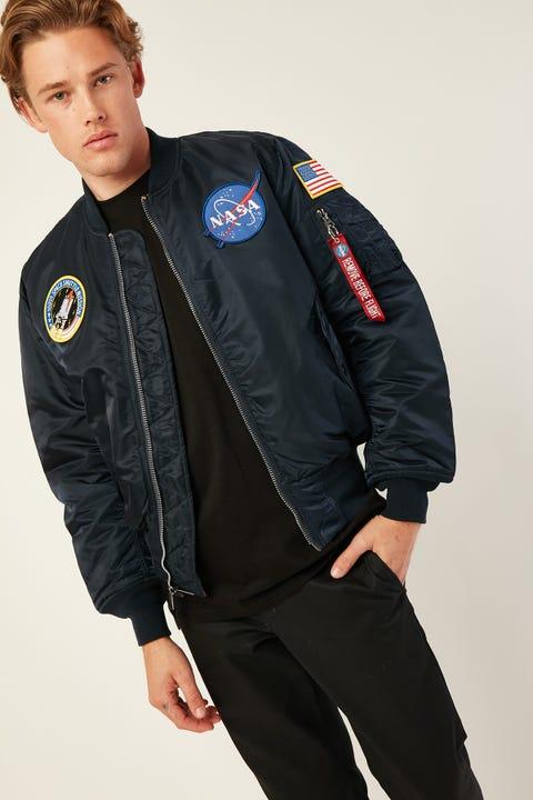 ALPHA INDUSTRIES MA-1 NASA FLight Jacket Replica Blue