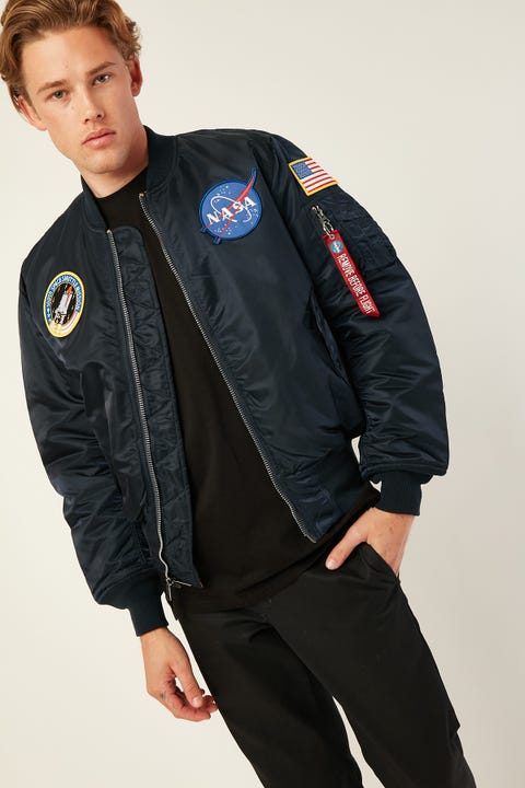 ALPHA INDUSTRIES MA-1 NASA FLight Jacket Replica Blue