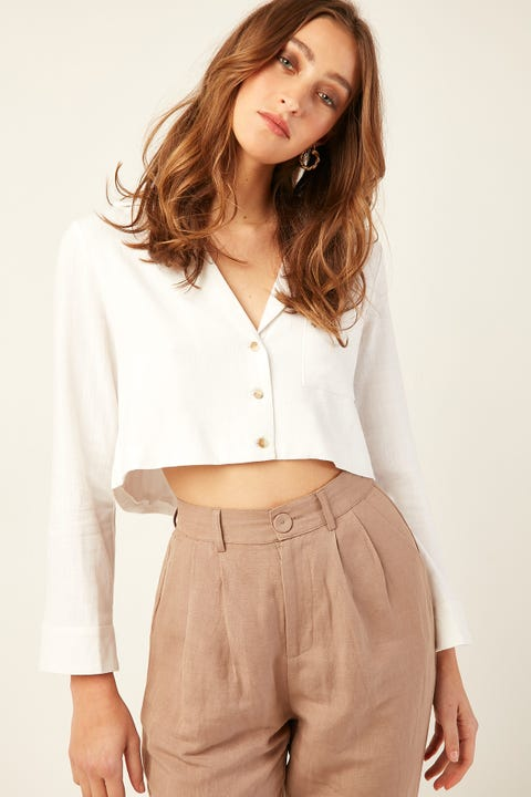 PERFECT STRANGER Extended Vacay Shirt White