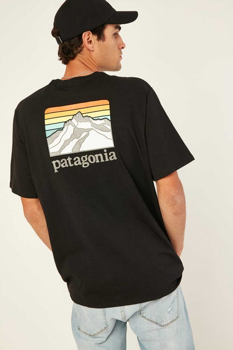 Patagonia M's Line Logo Ridge Pocket Tee Black