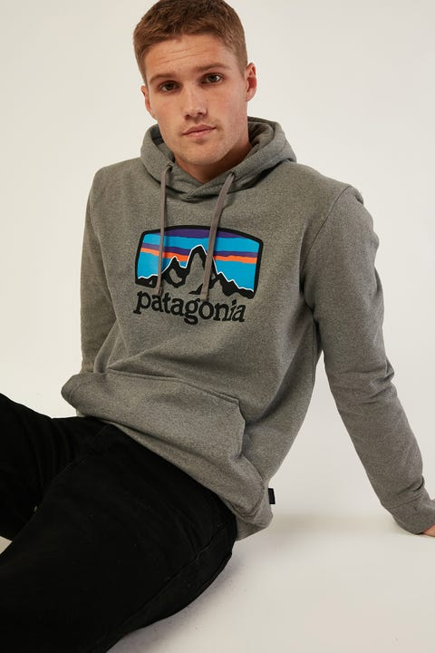 PATAGONIA M's Fitz Roy Horizons Uprisal Hoody Gravel Heather