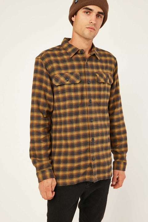 PATAGONIA M's LS Fjord Flannel Shirt Castroville Ink Black