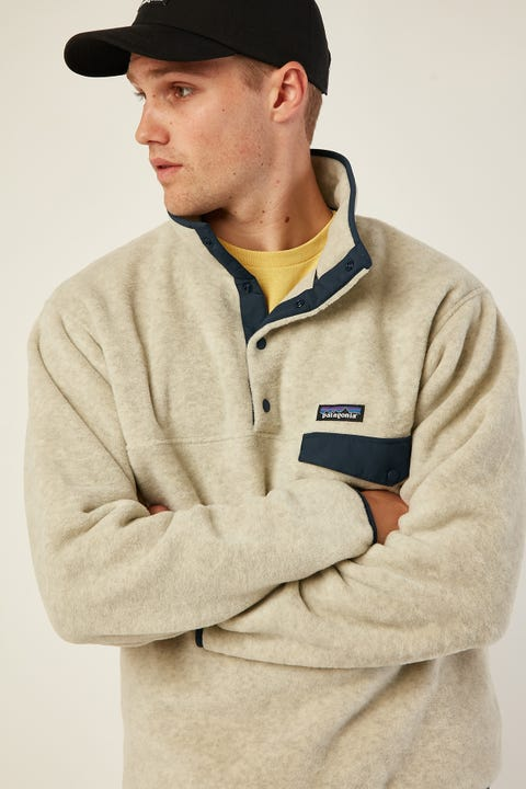 PATAGONIA M's Lightweight Synchilla Snap-T Pullover Oatmeal