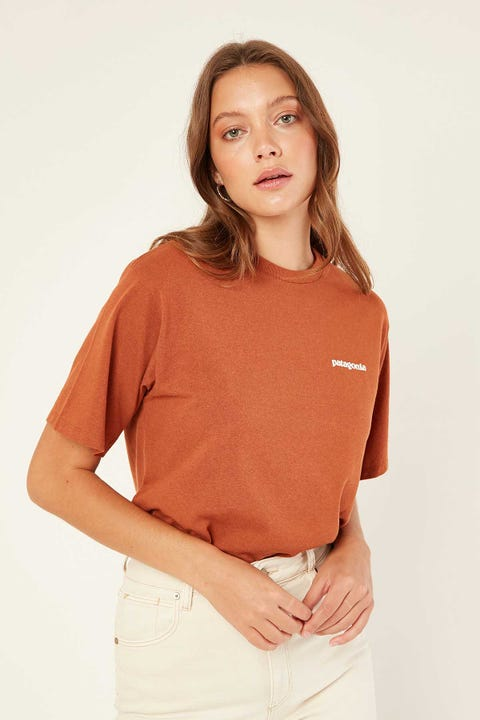 Patagonia M's P-6 Logo Tee Earthworm Brown