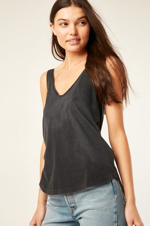 SILENT THEORY Ricky Tank Washed Black