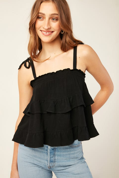PERFECT STRANGER Solace Cami Top Black
