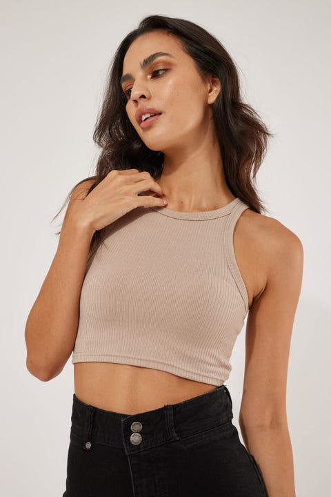 L&t Super Crop Top Nude