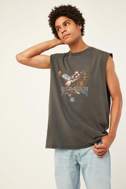 THRILLS Thrills Union Merch Fit Muscle Merch Black