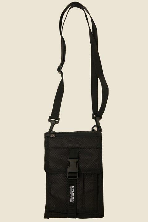 STUSSY Design Corp. Ripstop Shoulder Bag Black