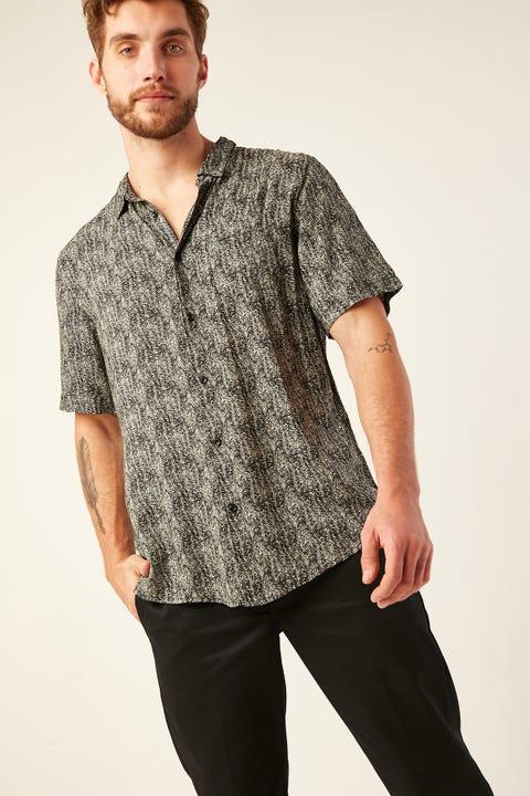 COMMON NEED Ripple Party Shirt Black/Grey