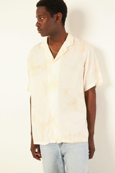 COMMON NEED Ristretto Resort Collar Shirt Coffee/Beige