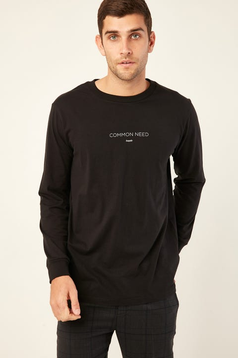 Common Need Refresh Longsleeve Tee Black