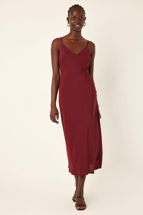 Perfect Stranger On Fleek Midi Dress Purple