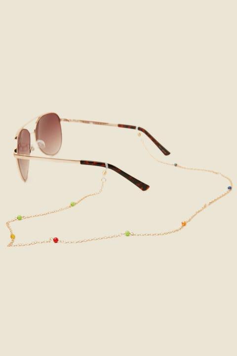 TOKEN Beaded Glasses Chain Gold