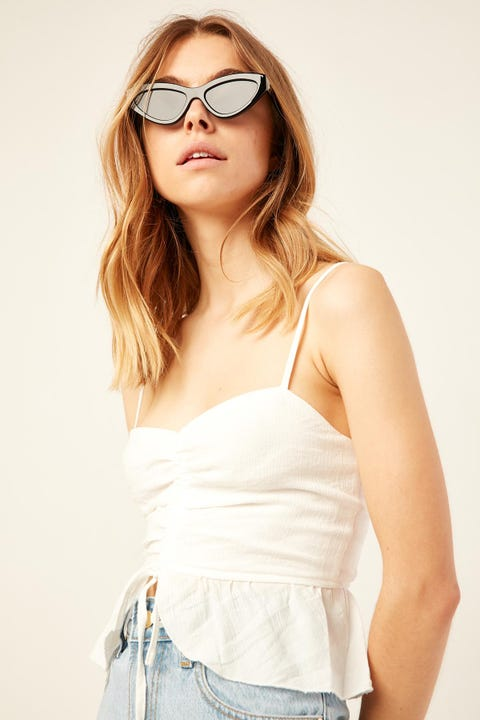 Luck & Trouble Talulah Cami Top White