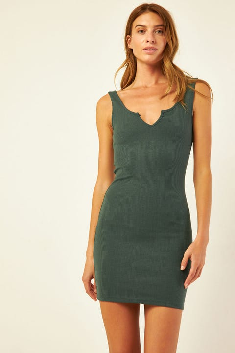 L&T Macy Mini Dress Green