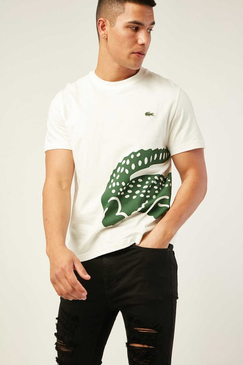 LACOSTE Wrap Around Croc T-Shirt Flour
