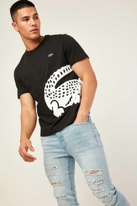 LACOSTE Wrap Around Croc T-Shirt Black