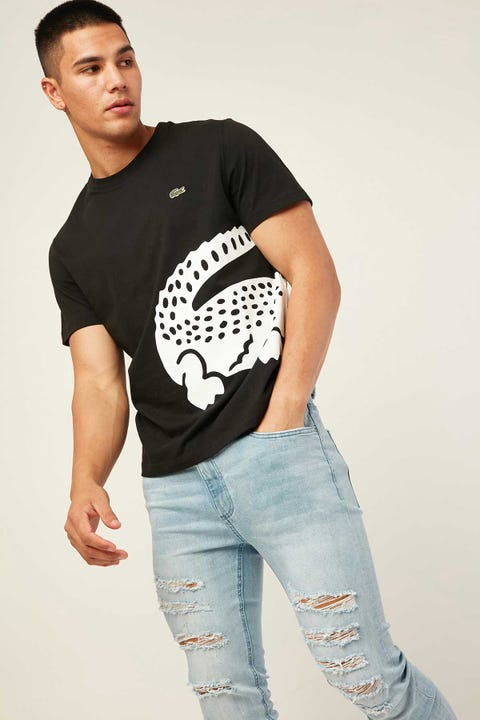 LACOSTE Wrap Around Croc T-Shirt Black