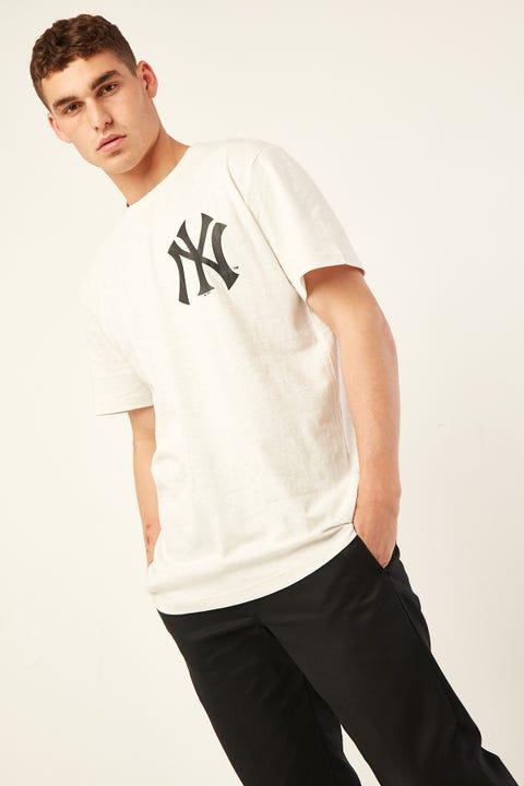 Majestic Athletic NY Yankees Tee White Marle