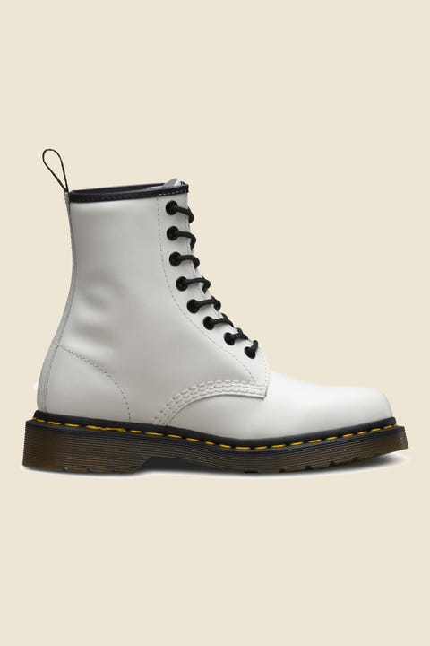 Dr Martens Womens 1460 8 Eye Boot White Smooth