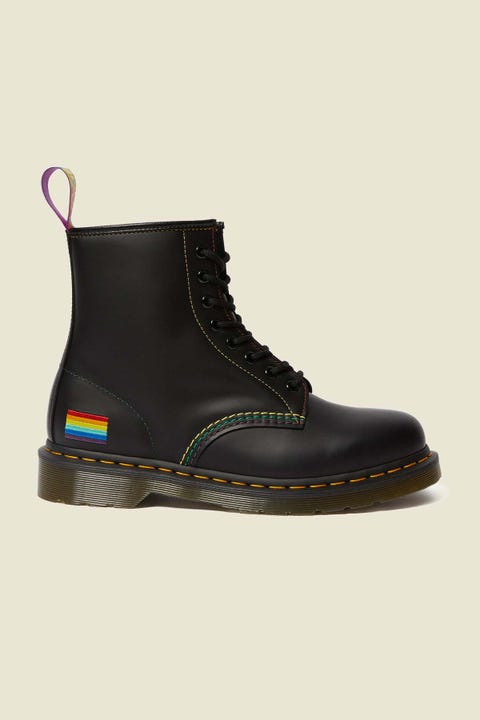 Dr Martens Womens 1460 Pride Boot Black Smooth