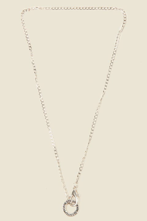 ICON BRAND Flat Out Chain Necklace Antique Silver