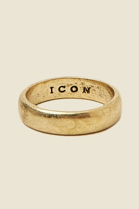 ICON BRAND Band Ring Burnished Gold