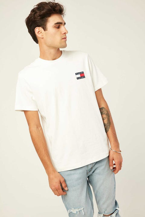 TOMMY JEANS TJM Tommy Badge Tee White