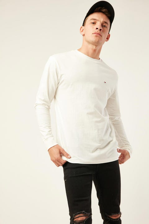Tommy Jeans TJM Classics Longsleeve Tee White