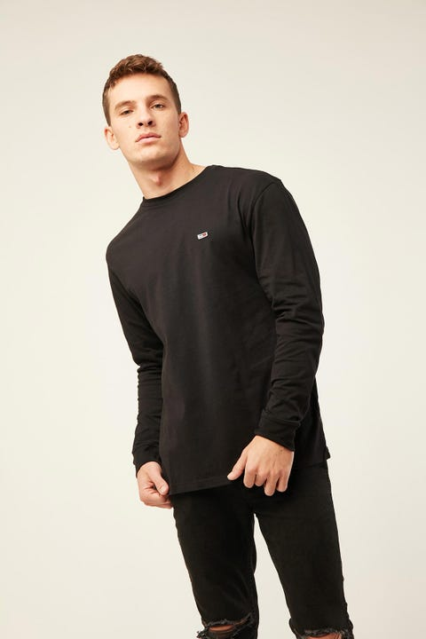 TOMMY JEANS TJM Classics Longsleeve Tee Tommy Black